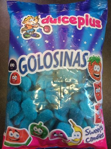Dulce Plus Foam Blue Raspberry  1kg Bag